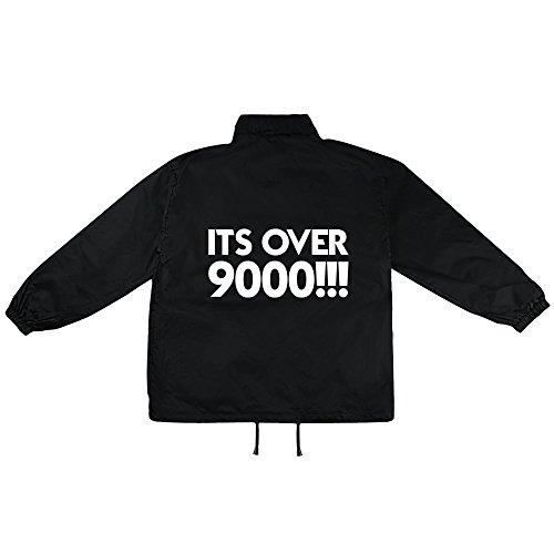 ist over 9000 Motiv auf Windbreaker, Jacke, Regenjacke, Übergangsjacke, stylisches Modeaccessoire für HERREN, viele Sprüche und Designs