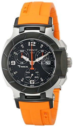 Tissot-Womens-T0482172705700-T-Race-Black-Chronograph-Dial-Orange-Strap-Watch
