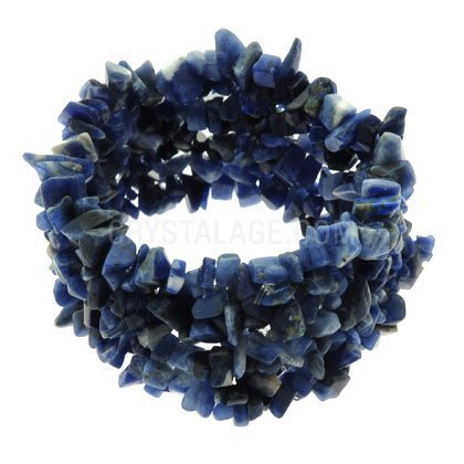 Sodalite Gemstone Chip Cuff Bracelet