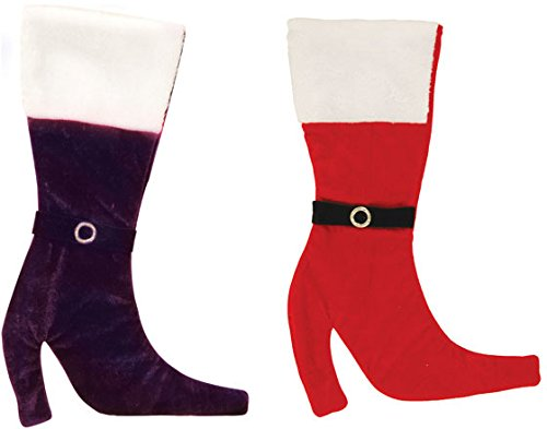 (DDI 2127635 Velvet Boot Christmas Stocking with Plush Cuff - Case of 36)