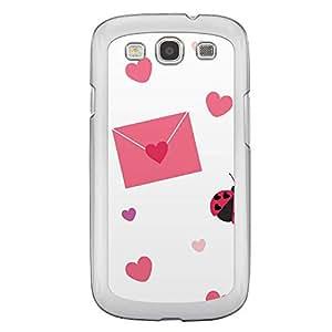 Loud Universe Samsung Galaxy S3 Love Valentine Printing Files A Valentine 158 Printed Transparent Edge Case - White/Pink