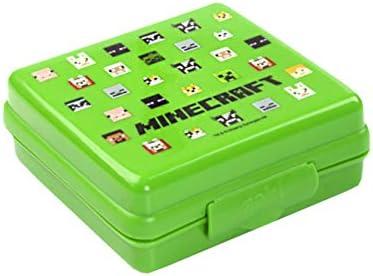 Minecraft enredadera verde de la cara del bolso del almuerzo Conjunto: Amazon.es: Hogar