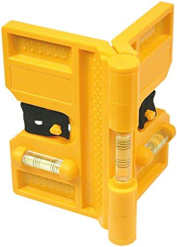 Pfostenwasserwaage mit vier Magnetstreifen, Winkelwasserwaage Wasserwaage