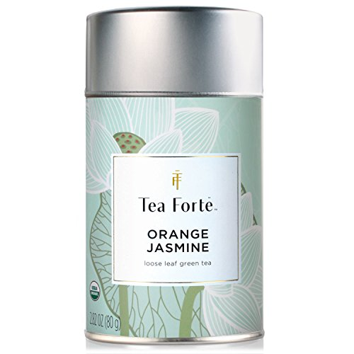 Tea Forte ORANGE JASMIN Organic Loose Leaf Green Tea, 2.82 Ounce Tea Tin