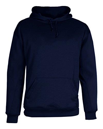 (Badger Men's Comfort Performance Fleece Hooded Sweatshirt, Navy, Small )