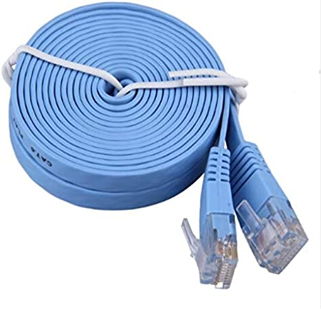 Computer Cables pingCAT 6 LAN Cable 0.5//1//2//3//5//10//15//20//25M RJ45 CAT6 8P8C Flat Ethernet Patch Network LAN Cable Blue in Stock Cable Length: 2m, Color: White