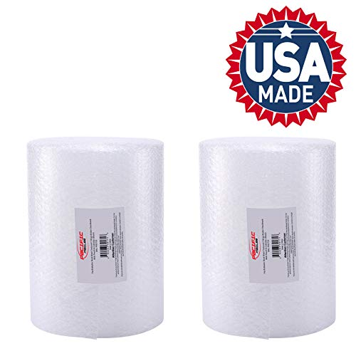 2-Pack Bubble Cushioning Wrap Rolls, 3/16