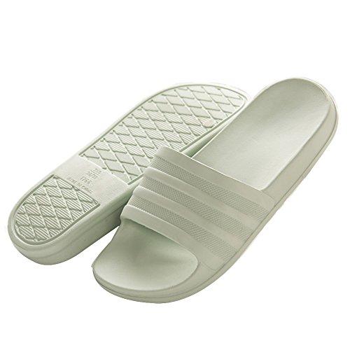 TELLW Bathroom Slippers for Male Female Summer Home Indoor Anti-Slip Thick Bottom Cool Slippers Women Green GXNC0