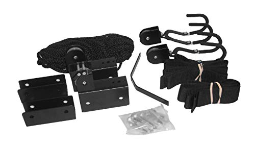 (attwood 11953-4 All-in-One Hoist System for Kayaks, Canoes and Bikes, Black Finish)
