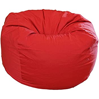 Ahh! Products Red Organic Cotton Large Bean Bag Chair