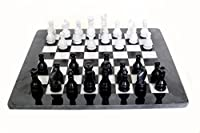 RADICAL Handmade Black and White Marble Full Chess Game Original Marble Chess Set