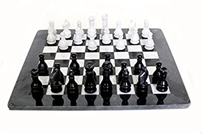 RADICALn Handmade Black and White Marble Full Chess Game Original Marble Chess Set