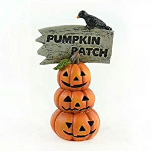 Fairy Garden Fun Pumpkin Patch Sign Miniature Dollhouse Fall Halloween Figurine Damien Linn