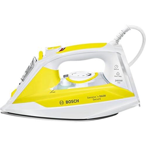 chollos oferta descuentos barato Bosch Sensixx DA30 Secure TDA3024140 Blanco Amarillo Plancha 2 m Blanco Amarillo 40 g min 0 32 L 2400 W