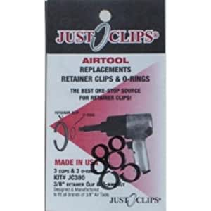 "Just Clips (JSC38012) 3/8"" Anvil Retainer Clip and O-Ring Kit, 12 Pack"