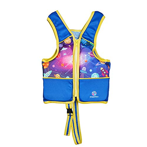Eoncore Life Jacket Swim Vests Swim Floatation Vest for Kids Toddlers Swimming Pool Toys for Boys Girls Up 25lbs (Blue-Galaxy, M)