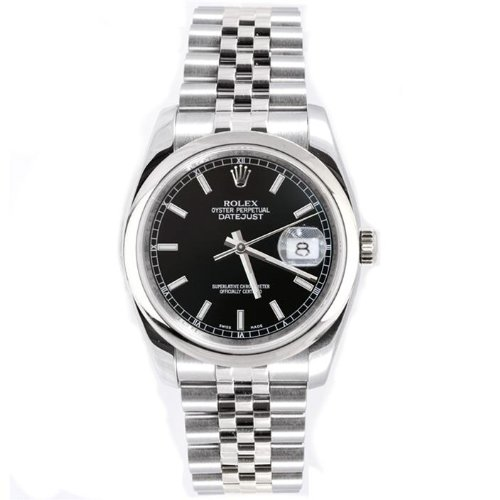 Rolex Men's New Style Heavy Band Stainless Steel Datejust (Large Image)