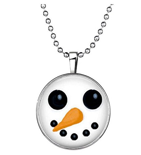 [Luck Wang Woman's Unique Fashion Personality and Temperament Christmas Snowman Necklace] (Homemade Cactus Costume Ideas)