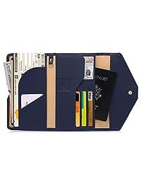Zoppen Mulit-purpose Rfid Blocking Travel Passport Wallet (Ver.4) Tri-fold Document Organizer Holder, #2 Navy Blue
