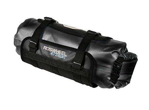 Roswheel Attack Series 111369 Waterproof Adjustable Capacity Bike Bicycle Cycling Handlebar Bag Detachable Dry Pack, Black by Roswheel (Image #2)