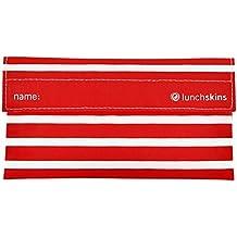Lunchskins Reusable Velcro Snack Bag, Red Stripe