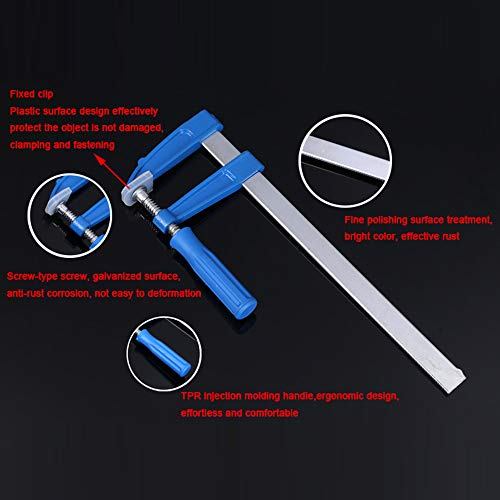 LUBAN Steel Bar Clamp with wood handle Malleable cast jaws for strength and durability 50mm200mm by LUBAN