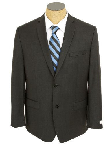 Joseph Abboud Mens Solid Charcoal Gray Wool Suit- Size 36S