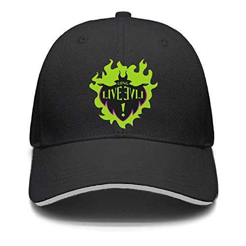 Fiexf Men Women Golf Hat Lightweight Maleficent Long Live Evil ()