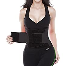 YIANNA Waist Trimmer Belt Back Support Adjustable Abdominal Elastic Waist Trainer Hourglass Body Shaper