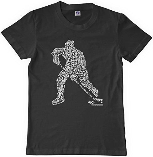 - Threadrock Big Boys' Hockey Player Typography Design Youth T-shirt L Black
