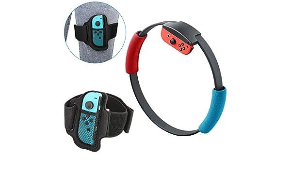 hmkazm Kit de Accesorios para Ring Fit Adventure, 1 Correa Ajustable para La Pierna y 2 Agarres Ring-con para Nintendo Switch Ring Fit Adventure: Amazon.es: Hogar