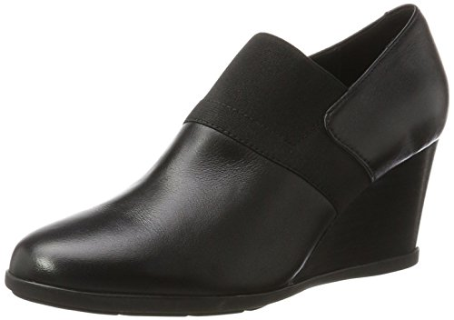 Pump Leather Italian - Geox Women's Inspiration Wedg 2 Dress Pump, Black, 38 EU/8 M US