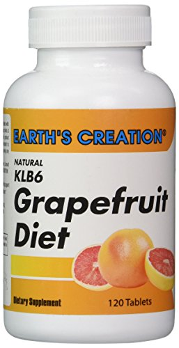 Natural KLB6 Grapefruit Diet | Kelp, Soy Lecithin, B6 and Apple Cider Vinegar | 30 Servings (120 Caplets)