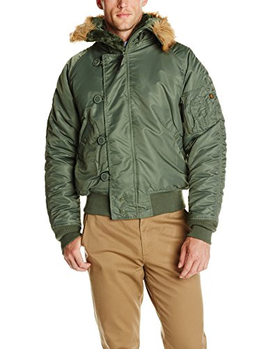 Alpha Industries Men's Big and Tall Alpha N-2B Short Waist Parka, SAGE, 3XL