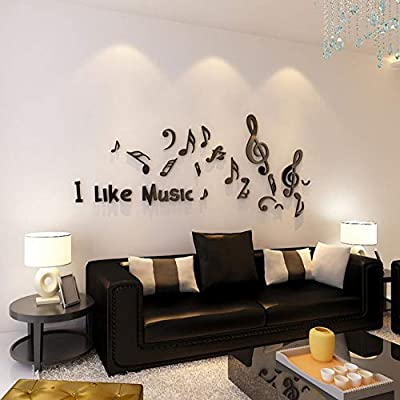 Limingxv Musical Note Wall Stickers Music Training Room Wall Decor 3d Crystal Sticker For Bedroom Living Room Diy Art Wall Decal Size 1 8x0 7m Buy Online At Best Price In Uae Amazon Ae,Dubai Design District Logo Png