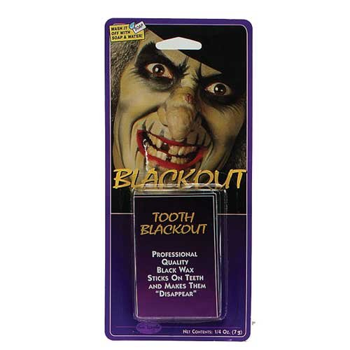 [Halloween Black Out Tooth Wax] (Saw Makeup And Costume)