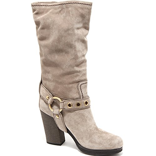 stivale shoes boots 68186 Tortora women scarpa SHOE CAR donna SOwdxqP17