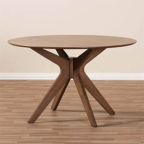 Hawthorne Collections Round Dining Table in Walnut Brown by Hawthorne Collections (Image #3)