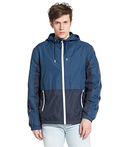 Rokka&Rolla Men's Lightweight Quick Dry Athletic Outdoor Rainproof Hooded Windbreaker Jacket