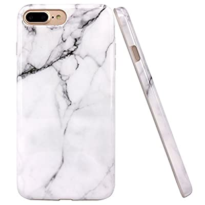 iPhone 7 Plus Case, JAHOLAN Marble Design Slim Shockproof Flexible Smooth TPU Soft Case Rubber Silicone Skin Cover for Apple iPhone 7 Plus
