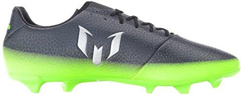 adidas Performance Herren Messi 16.3 FG Fußballschuh Dunkelgrau / Metallic Silber / Neon Grün