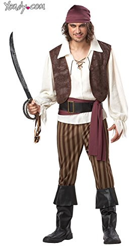 California Costumes Men's Rogue Pirate Costume, Brown, Size ()