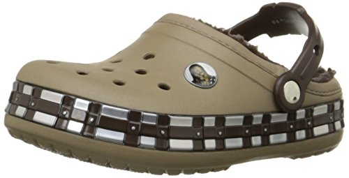 (crocs Kids' Crocband Star Wars Chewbacca Lined Clog (Toddler/Little Kid), Khaki, 6 M US Toddler)