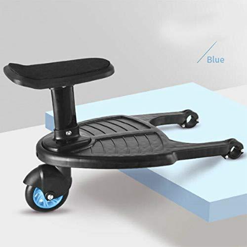 Blau Yajiun Buggy Board,Buggyboard mit Sitz,Kinderwagen Board,Sitz Abnehmbar und Zusammenbauen,35x26cm