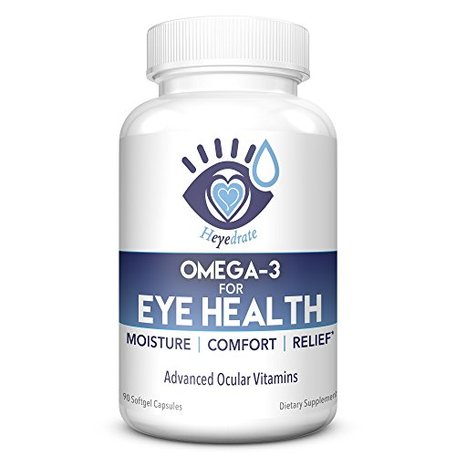 Heyedrate Triglyceride Omega 3 Fish Oil for Eye Health | Provides Comfort and Relief for Dry, Irritated Eyes | Easy to Swallow, Small, Burpless Softgel | EPA, DHA, and Omega 7 Fatty Acids For Sale