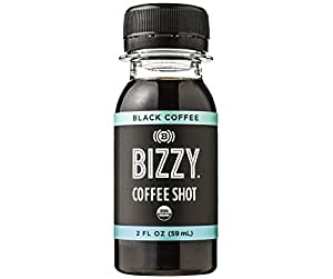 Bizzy Coffee Double Shot - Black 12 Pack - USDA Organic