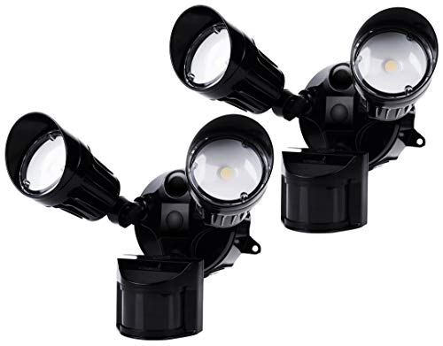 Hyperikon LED Security Light Black with Motion Sensor, 20W 100 Watt , Outdoor Flood Light Dusk to Dawn, 5000K, IP65, 2 Pack
