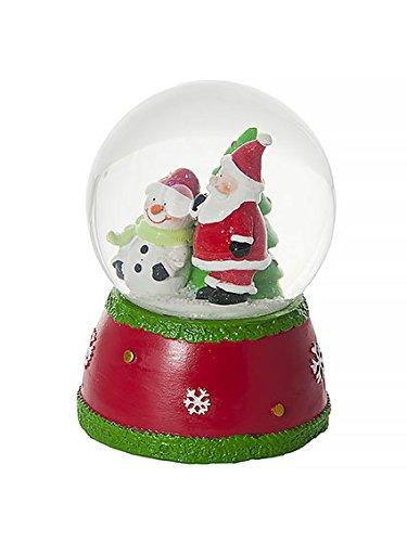 Weihnachten Schneekugel Spieluhr mit Weihnachtsmann und Schneemann