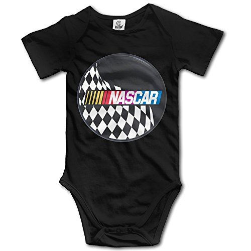 QCNEY Baby's NASCAR Logo Bodysuit Romper Jumpsuit Baby Clothes Black