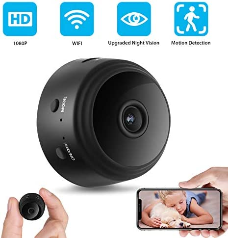 Mini Camera Hidden Camera Wireless Camera 1080P WiFi Mini Camera with 150 Angle Night Vision Motion Detection for Indoor Home Security